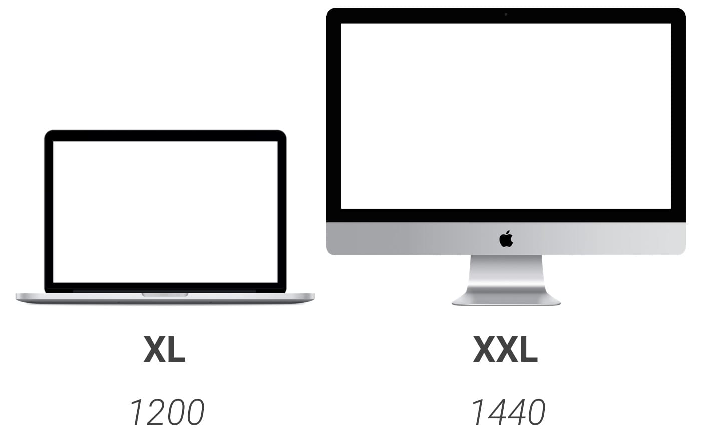 Breakpoints: XL and XXL